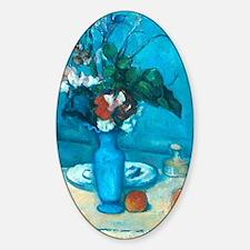 cezanne blue vase no poster Sticker (Oval)
