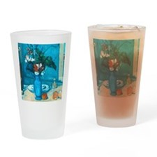 cezanne blue vase no poster Drinking Glass