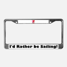 Sail Boat Love License Plate Frame