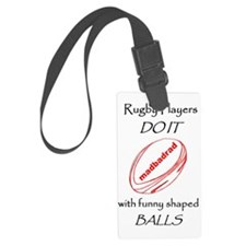 Rugby Funny Shaped Balls 1500 Large Luggage Tag