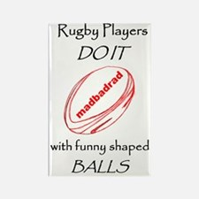 Rugby Funny Shaped Balls 1500 Rectangle Magnet
