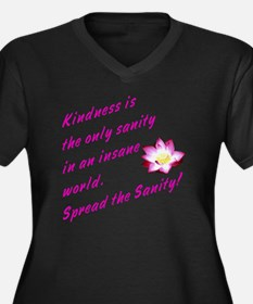 kindness1 Women's Plus Size Dark V-Neck T-Shirt