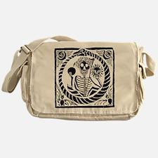 USESkeleton and snake square USE1 Messenger Bag