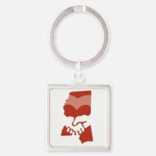 Miss-love-W Square Keychain