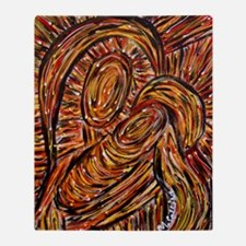 Abstract Mother And Child Christmas Throw Blanket