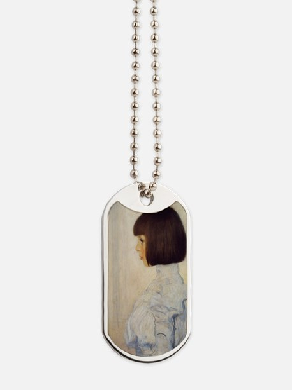 Gustav_Klimt_Portrait_of_Helene_Klimt_(hi Dog Tags