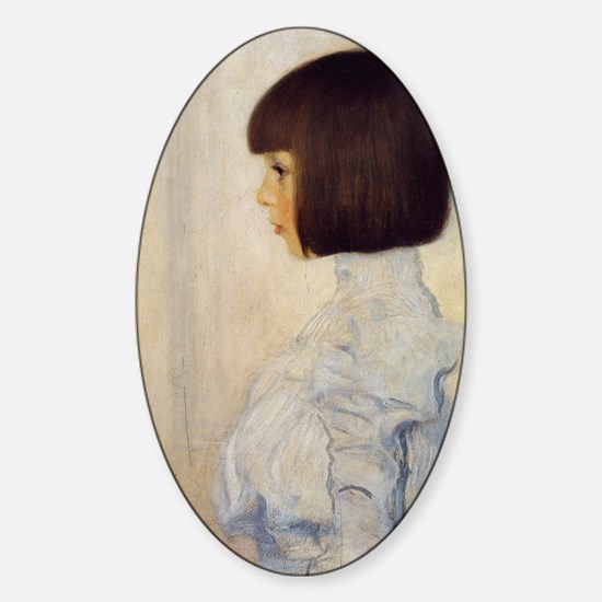 Gustav_Klimt_Portrait_of_Helene_Kli Sticker (Oval)
