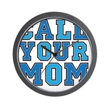 call your mom pillow Wall Clock