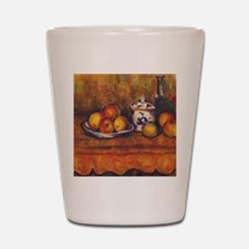 cezanne still life Shot Glass
