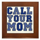 Call your mom Framed Tiles