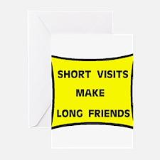 SHORT VISITS Greeting Cards (Pk of 10)