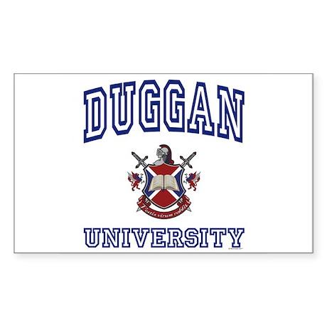 DUGGAN University Rectangle Sticker