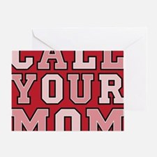 call your mom pillow Greeting Card