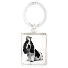 Basset Hound Puppy A4 Portrait Keychain