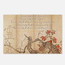 reiki principles plum tre Postcards (Package of 8)