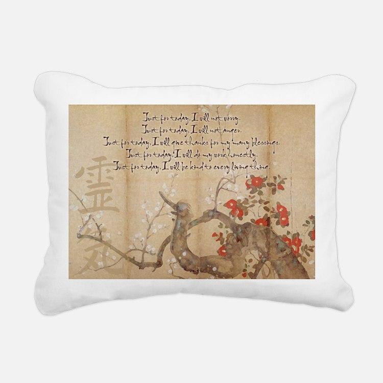reiki principles plum tr Rectangular Canvas Pillow