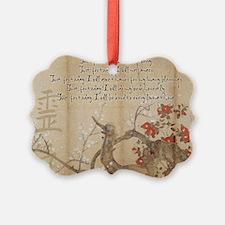 reiki principles plum tree LARGE  Ornament