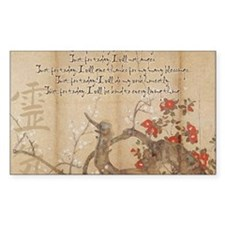 reiki principles plum tree LAR Decal