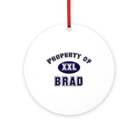 Property of brad Ornament (Round)