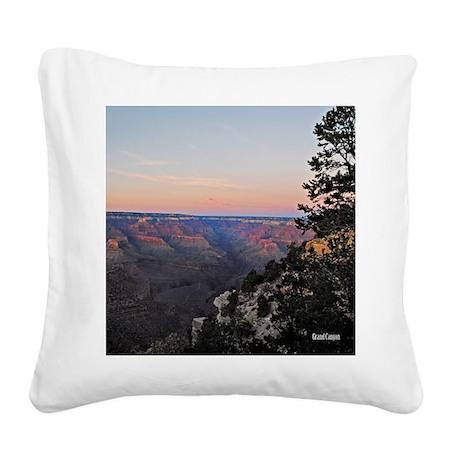 10x10_canyon-tote Square Canvas Pillow