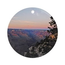 10x10_canyon-tote Round Ornament