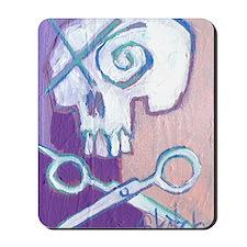 skull and scissors Mousepad