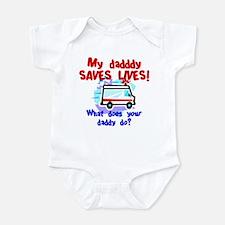Daddy Saves Lives Ambulance Onesie