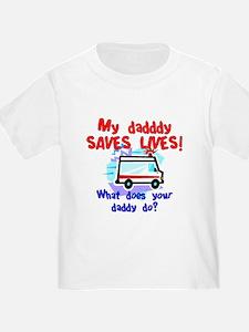 Daddy Saves Lives Ambulance T