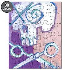 skull and scissors Puzzle