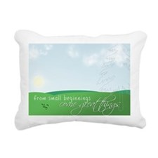 from small beginnings Rectangular Canvas Pillow