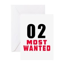 02 most wanted Greeting Card