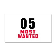 05 most wanted Car Magnet 20 x 12
