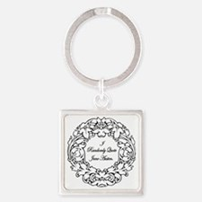 Randomly Quote Jane Austen Square Keychain