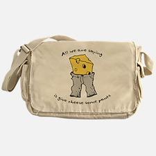 sacredo-cheese1 Messenger Bag