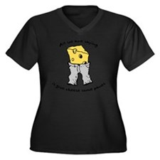 sacredo-chee Women's Plus Size Dark V-Neck T-Shirt