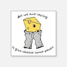 "sacredo-cheese1 Square Sticker 3"" x 3"""