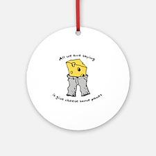 sacredo-cheese1 Round Ornament