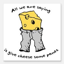 "sacredo-cheese1 Square Car Magnet 3"" x 3"""