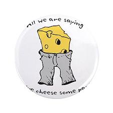 """sacredo-cheese1 3.5"""" Button"""