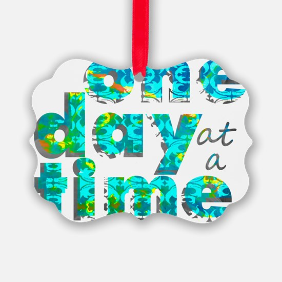 one day text graphic_final Ornament