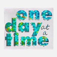 one day text graphic_final Throw Blanket