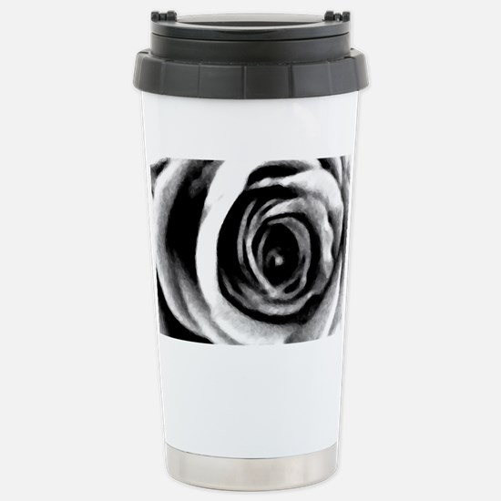 Rose Abstract Stainless Steel Travel Mug