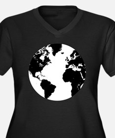 the world Women's Plus Size Dark V-Neck T-Shirt