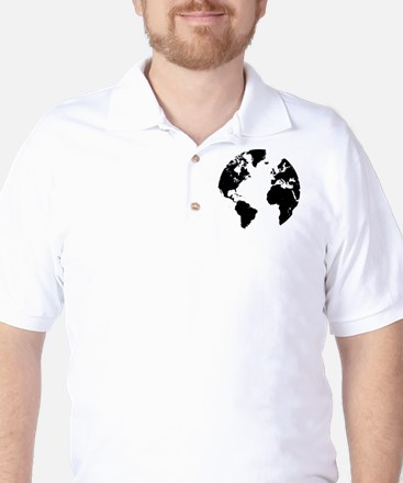 the world Golf Shirt