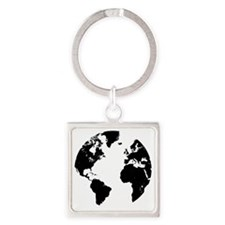 the world Square Keychain