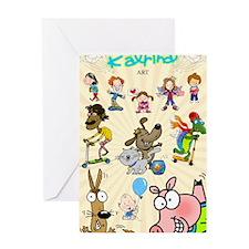Katrina Art Poster Greeting Card