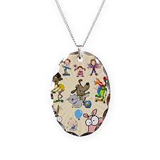 Katrina Art Poster Necklace Oval Charm