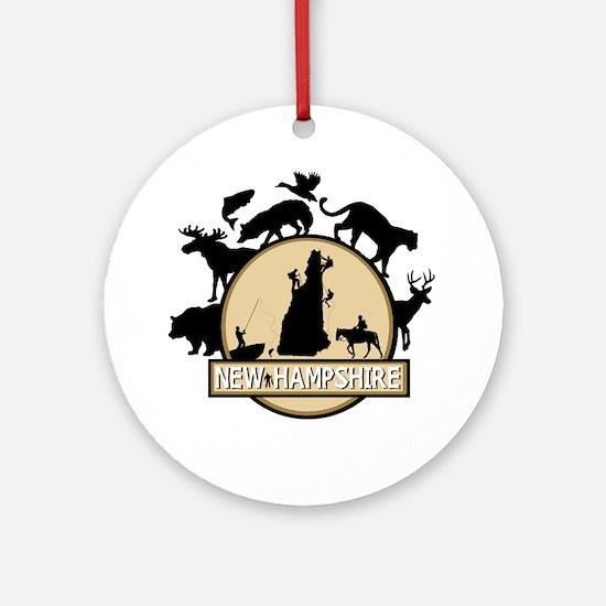 New Hampshire Round Ornament