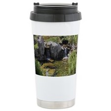 Japan Fishpond-Mosaic Travel Coffee Mug