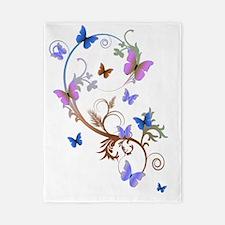 Purple N Blue Butterflies Twin Duvet
